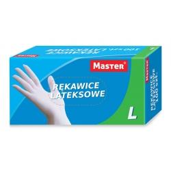 "Rękawice Lateksowe ""M"" MASTER S-091"