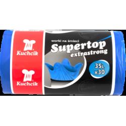Worki sanitarne HD-LD SUPERTOP Kuchcik, niebieskie, 35L a'30