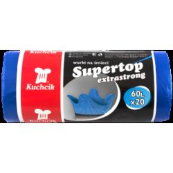 Worki sanitarne HD-LD SUPERTOP Kuchcik , niebieskie, 60L, a'20