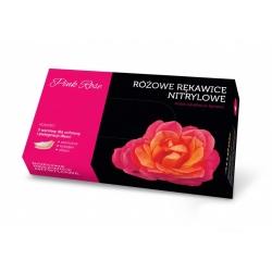 Rękawice itrylowe Pink Rose